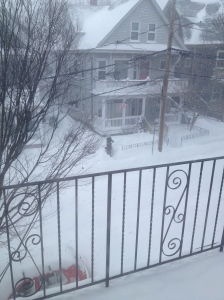 The view from my apartment at around 11:00 this morning.